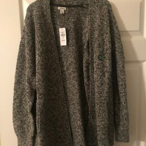 Gray and Black Cardigan XL Petite